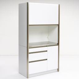 AQUA/アクア ダストダイニングボード・キッチンボード 幅107cm ホワイト 側面もすっきりとしたホワイトカラーで、圧迫感を感じさせないスマートなデザインも魅力です。