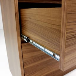 Granite/グラニト アイランド間仕切りキッチンカウンター幅120cm 引き出しタイプ フルスライドレールは奥までしっかり引き出すことができるので収納物の出し入れも簡単。