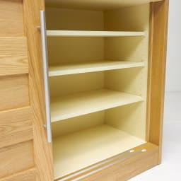 NexII ネックス2 天然木キッチン収納 カウンター 幅120cm 棚板は3cmピッチで細やかに変更が可能。