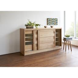 NexII ネックス2 天然木キッチン収納 カウンター 幅160cm ナチュラル