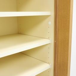 NexII ネックス2 天然木キッチン収納 キャビネット 幅120cm 棚板は3cmピッチで細やかに調節が可能です。