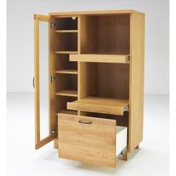 Pippi/ピッピ アルダー材コンパクトキッチン レンジラック 幅80.5cm 2段の家電収納部で、置き場所に困る炊飯器やポット、トースターなどの定位置に。