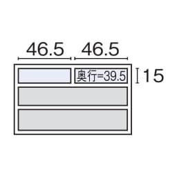 Volga/ヴォルガ ウォルナットシリーズ テレビ台 幅100cm 内寸図(cm)