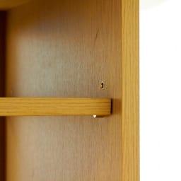格子デザインシリーズ(ウォルナット) テレビサイドキャビネット 可動棚板(※お届けはウォルナット色です)