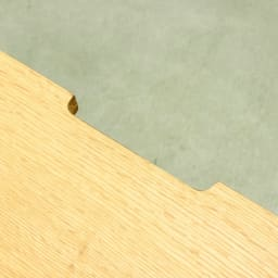 Loire/ロアール 天然木格子伸縮テレビ台 幅125~234cm 天板後方には配線用の欠きこみがありテレビ・デッキ類の配線がスムーズにできます。