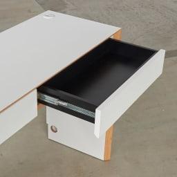 Torta/トルタ ナチュラルモダンデスク デスク 幅80cm 引き出し内部まで化粧がされているので、お手入れも簡単です。