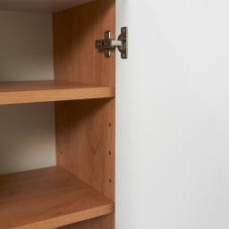 Torta/トルタ ナチュラルモダンデスク キャビネット 幅117cm 棚板は6cmピッチで調整できる可動棚です。