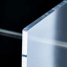 Lumiere/ルミエル  クリアブックシェルフ 幅62cm 透明感が美しい10mm厚のアクリル。