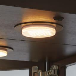 Emilia/エミリア キュリオケース・コレクションケース 幅60cm高さ170cm 省エネのLEDダウンライトが、コレクションを美しく照らし出します。