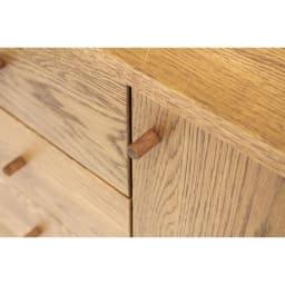 天然木シェルフキャビネット 片開きタイプ[素材:オーク/アルダー]幅75cm