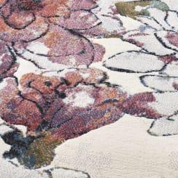 ベルギー製ウィルトン織りラグ〈フィデリオ〉 [生地アップ] (ア)ピンク系