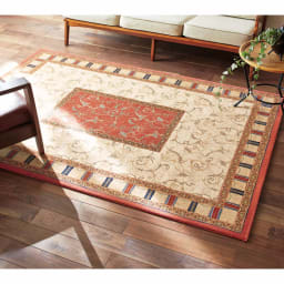 ベルギー製 Goran/ゴラン ウィルトン織ラグ ローズ ※サイズは約160×230cmです。