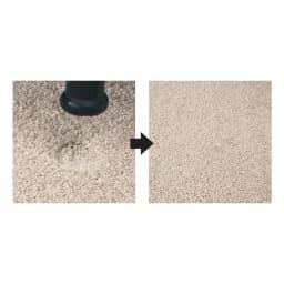 ふわふわソフトタッチタイルマット 同色組 【優れた弾性回復力で風合い長持ち】一般的なラグに比べ弾性回復力に優れ、家具を置いても跡が残りにくい特性があります。ライトグレー使用