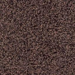 日本製ナイロン100%洗えるツイストシャギーラグ [素材アップ]ブラウン