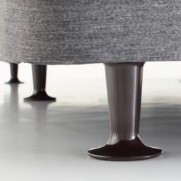 Sealy/シーリー レザーヘッドダブルクッションタイプ ボトム(土台)の脚の高さは10cmとなります。