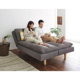 Tredirezi/トレディレジー 3wayソファベッド カウチスタイルはソファでのくつろぎの幅を広げてくれます。