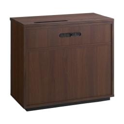 Nyhavn(ニューハウン) ウォルナットベッドサイド収納 ミドルAVチェストテレビボード 幅80奥行45高さ70cm 背面も化粧仕上げできれいに。