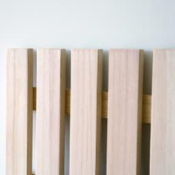 MARK/マーク 木製ベッド ホワイトオーク ポケットコイルマットレス 床板は上下2枚、桐材のスノコ床板。調湿効果に優れ湿気やカビを寄せ付けず、清潔な状態を保つことが可能です。