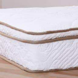 国産ユーロトップポケットコイル ウォルナット MARK/マーク 木製ベッド 体をしっかり支えながらやさしく包み込むウレタン(ユーロトップ)