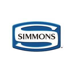 【配送料金込み 組立・設置サービス付き】【カバー付き】SIMMONS ダブルクッションベッド 6.5インチピロートップ