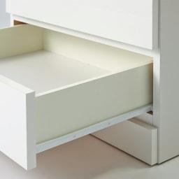Milath/ミラススライドワードローブ専用オプション インナーチェスト 引き出しの側面迄白い表面材を使用し、美しく仕上げました。