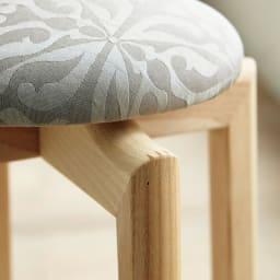HOUSE STYLING別注マッシュルームスツール[TAKUMIKOUGEI・匠工芸] 脚部はフィンガージョイント加工。耐久性に優れた強固なつくりに職人技が光ります。