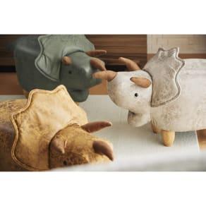 トリケラトプスのスツール 写真