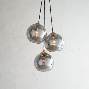 ガラスシェードライト 3灯 写真