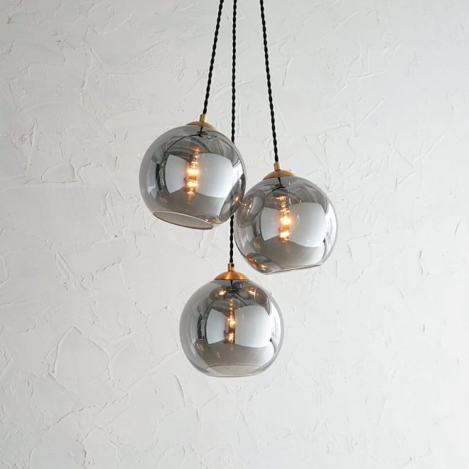 ガラスシェードライト 3灯