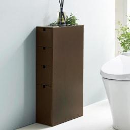 スリム 引き出し トイレ収納庫  4段 幅16cmでたっぷり収納できる、便利なプラスワン収納です。
