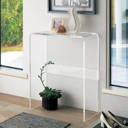 Gel/ジェル アクリルコンソールテーブル 写真は幅65cmタイプです。