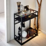 Noisette/ノワゼット アイアンコンソールテーブル 幅60cm高さ73.5cm 写真