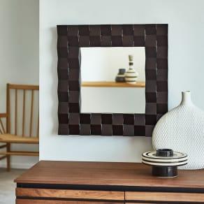 PHILOS/フィロス プリズミー壁掛けミラー・ウォールミラー 幅45×高さ45cm 写真
