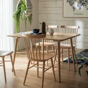 ウィンザーダイニングテーブル 長方形ダイニングテーブル 幅約120cm×80cm[チェコ・TON社] 写真