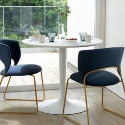 Planet プラネット 円形ダイニングテーブル 直径90cm [connubia calligaris コヌビア/カリガリス] 円形のテーブルは、人数や座る向きなど、フレキシブルに使えます。お部屋のコーナーでもすっきりおしゃれにスタイリングできます。