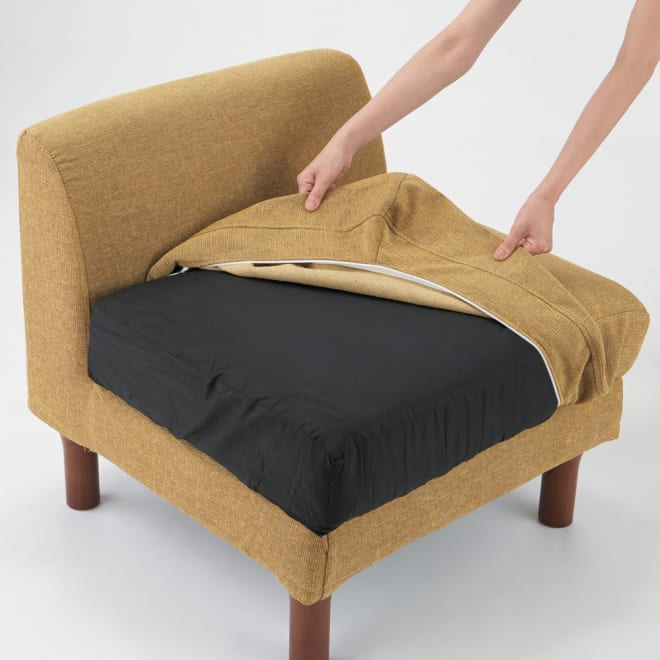 TETTO/テット ソファシリーズ 1人掛けソファベンチ カバーは取り外してご自宅で洗え、いつでも清潔な空間に。