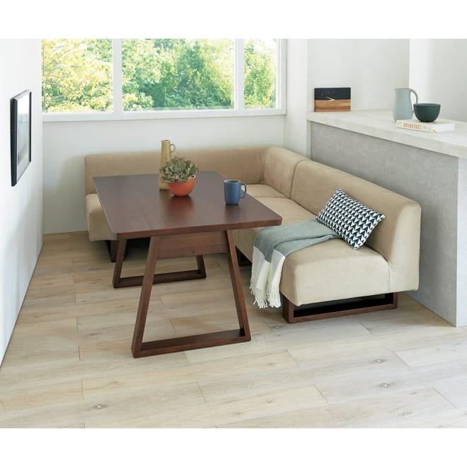 BIS/ビス リビングダイニングシリーズ テーブル119cmセット (ア)カーキ 左アームセット コンパクトなテーブル119cmタイプ