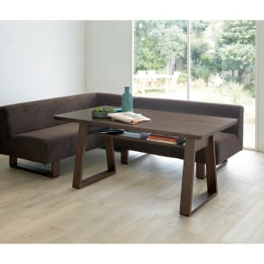 左アームセット テーブル140cmセット(BIS/ビス リビングダイニングシリーズ) 写真