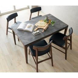 Elusso/エルーソ 石目調ダイニングテーブル 幅135cm ※本ページではテーブルのみの販売です。