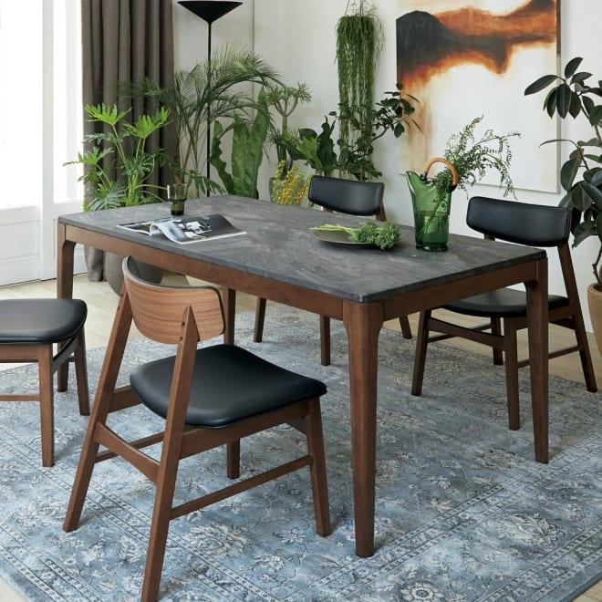 Elusso/エルーソ 石目調ダイニングテーブル 幅160cm ※本ページではテーブルのみの販売です。