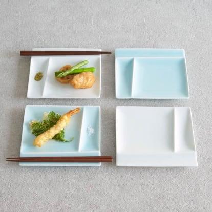 お箸が置けるパレット皿 幅17cm 4…
