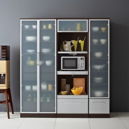 SmartII スマート2 ステンレスシリーズキッチン収納 扉内引き出し付きキッチンキャビネット 幅70cm ウエンジ色シリーズイメージ