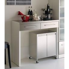 SmartII スマート2 ステンレスシリーズ 間仕切りオープンキッチンカウンター 幅90.5cm高さ85cm 写真