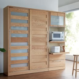 NexII ネックス2 天然木キッチン収納 キャビネット 幅120cm ナチュラル ※写真は幅140タイプです。