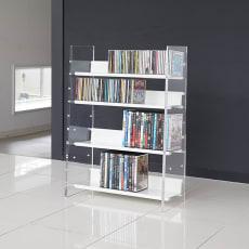 クリアーアクリルシリーズ CD・DVDラック 幅60cm