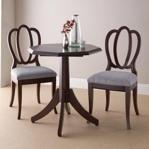 Emilia/エミリア 八角形ティーテーブル 幅70cm奥行70cm 写真