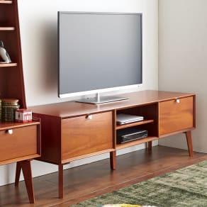 北欧ヴィンテージ風Vカットデザイン テレビボード・テレビ台 幅150cm 写真