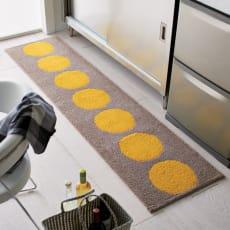 抗菌防臭加工ドット柄 キッチンマット