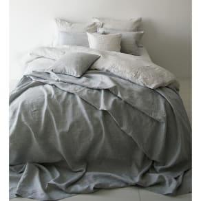 220×270cm French Linen/フレンチリネン カバーリング マルチカバー メランジ 写真