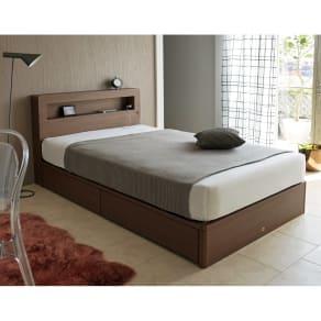 セミダブル幅121cm 5.5インチマットレス(SIMMONS/シモンズ 収納付きLEDベッド) 写真